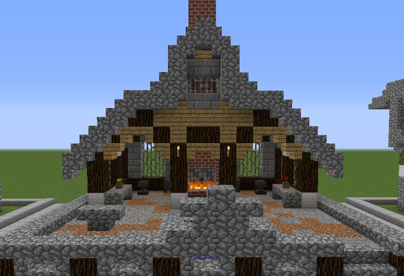 Stone Roof Medieval Blacksmith Grabcraft Your Number One