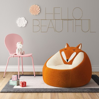 Fantastic Character Bean Bag Chair Orange Fox Pillowfort For The Unemploymentrelief Wooden Chair Designs For Living Room Unemploymentrelieforg