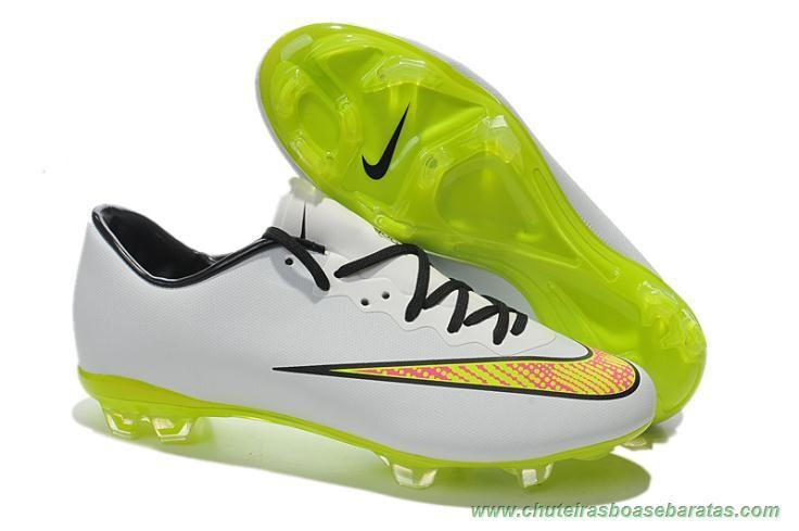 cfaa885238dbc melhores chuteiras do mundo Masculino Branco Nike Mercurial Vapor X ...