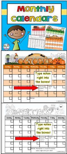 Monthly Calendar Templates Editable  Monthly Calendar Template