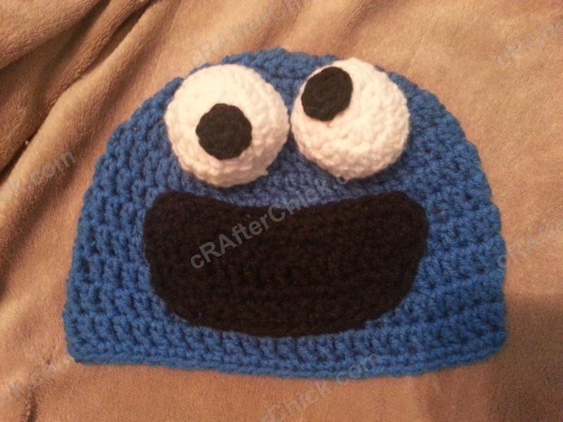 crochet cookie monster toddler baby hat, free tutorial DIY pattern ...