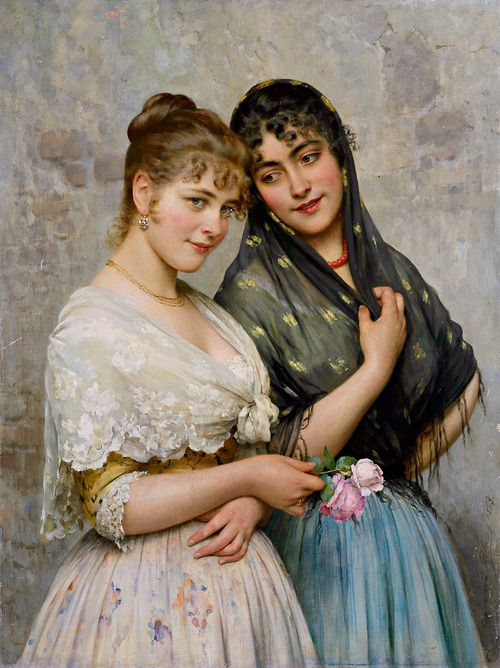 """""""Two Venetian Women"""" Eugen von Blaas (1898)"""