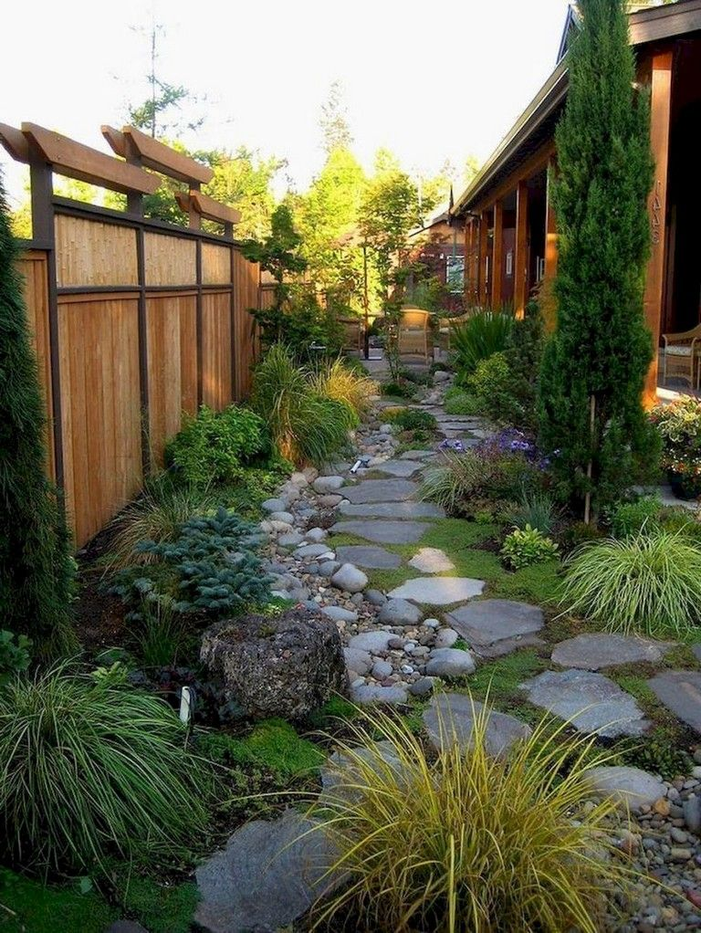 60+ Plain and Beautiful Front Yard Pathways Landscaping ...