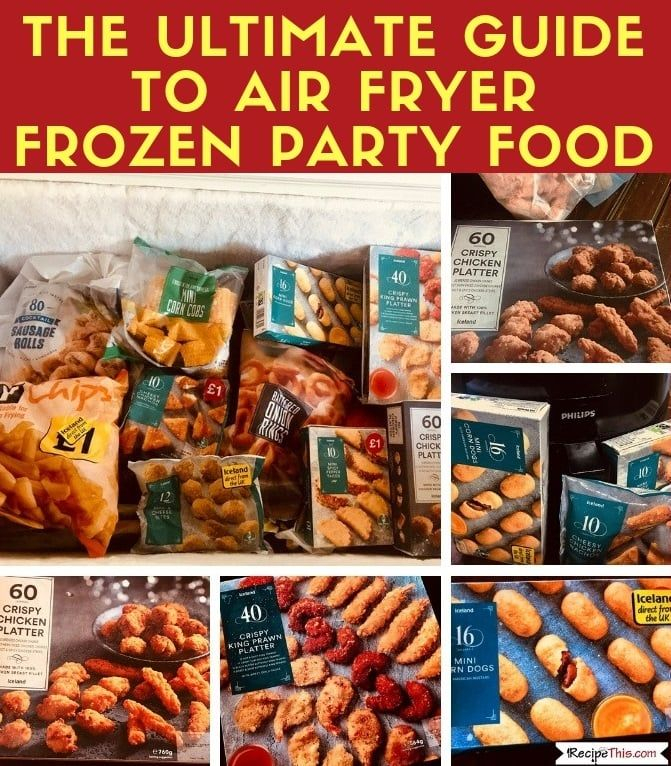 Air Fryer Frozen Party Food Frozen party food, Air fryer