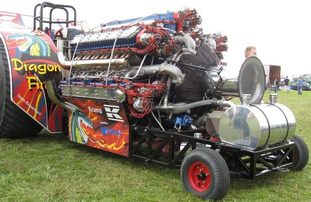 Dragonfire tractor puller, maddest motor on the planet