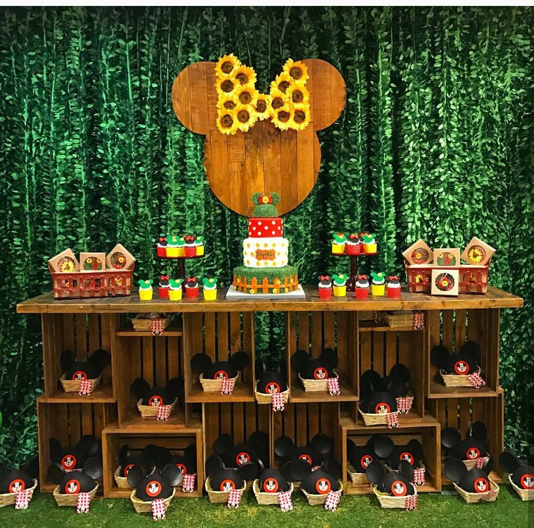 Minnie Mouse Garden Theme Birthday Party Dessert Table and ...