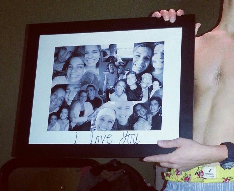 Picture Collage For Boyfriend Boyfriend Crafts Cute Anniversary Gifts Picture Gifts
