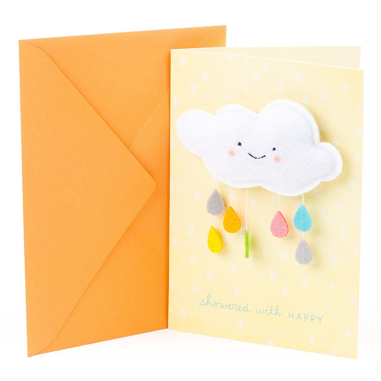 Amazon Hallmark Signature Baby Shower Greeting Card Showered