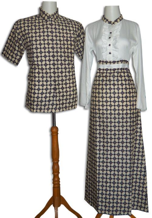 Batik Sarimbit Modern Model Gamis Batik Bahan Katun Batik Kombinasi