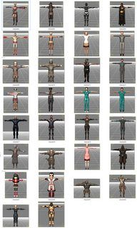 Pack Of 64 Fbx Mixamo Character Models Low Poly | Daz Poser