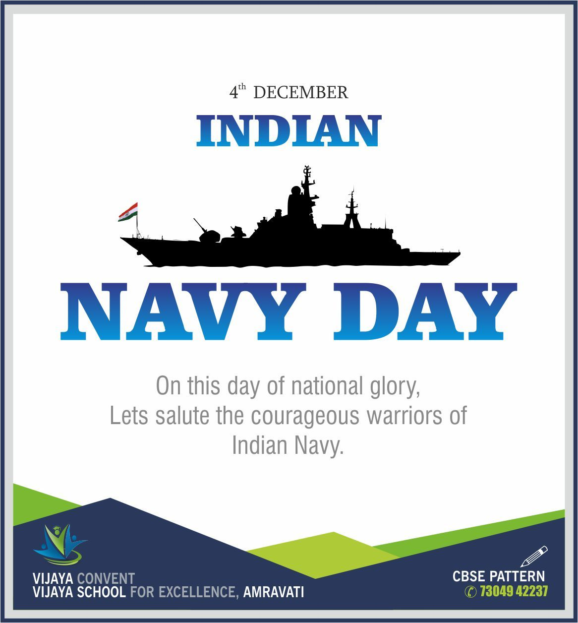 Indian Navy Day On This Day Of National Glory Let S Salute The Courageous Warriors Of The Indian Navy Vijaya Conven Indian Navy Day Navy Day Indian Navy