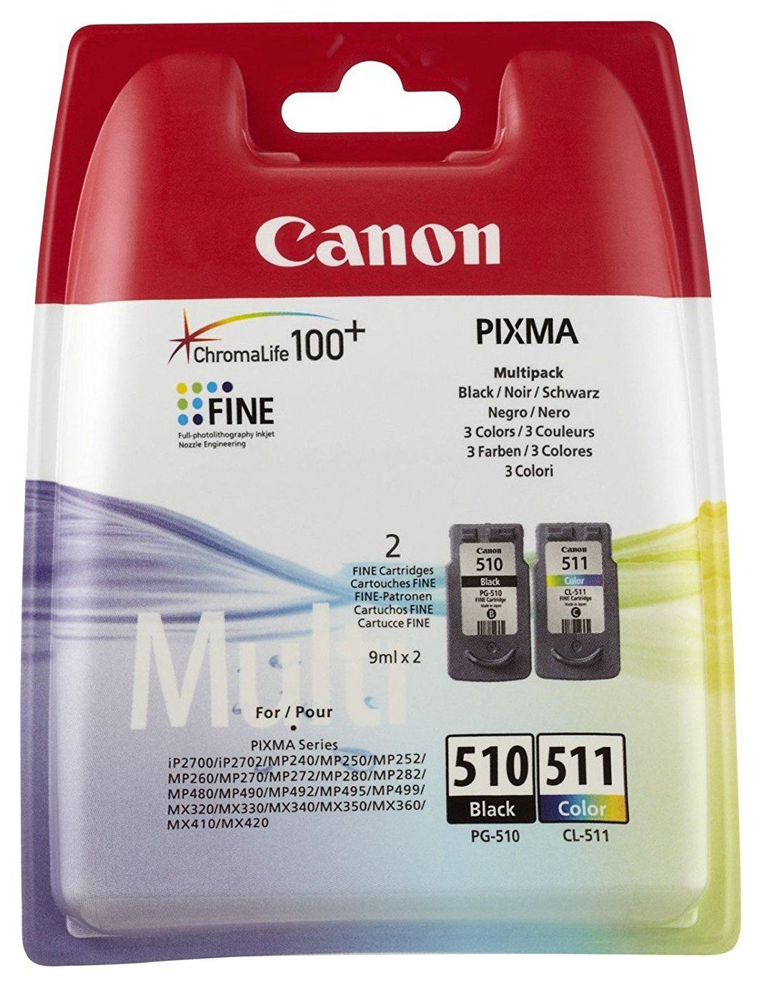 Canon Pg 510 Cl 511 Ink Cartridges Black Colour In 2020