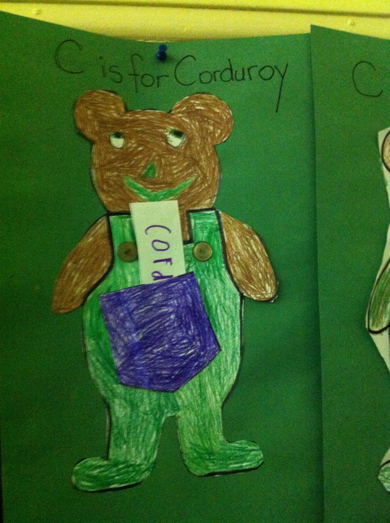 Letter C Read The Story Corduroy And A Pocket For