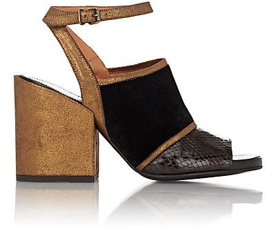 Dries Van Noten Mixed-Material Ankle-Strap Sandals  3bbd9d153