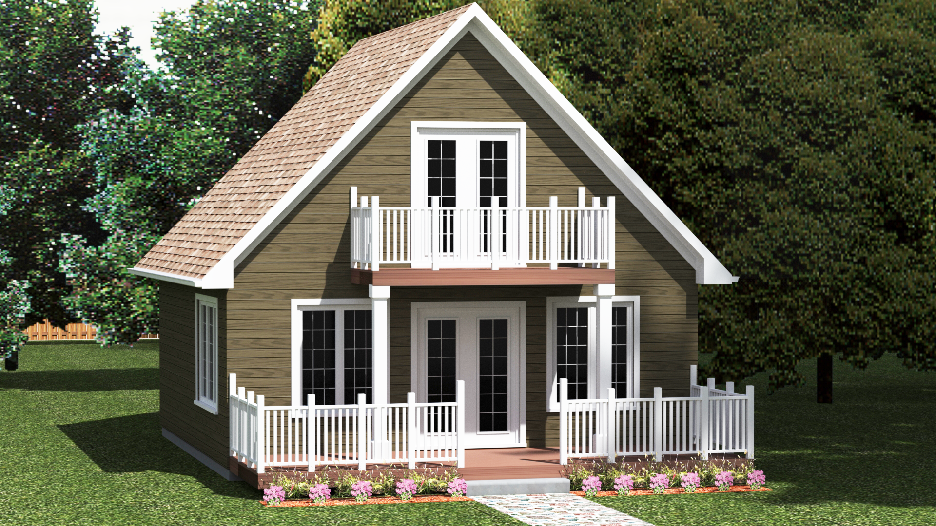 TBM880   TIMBER MART   Cottage plan, Cottage, Small house