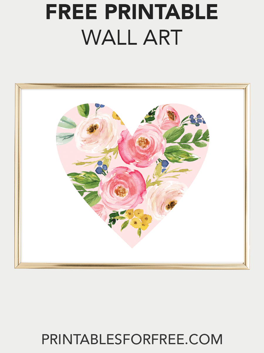 floral heart printable wall art | computer | pinterest | printable
