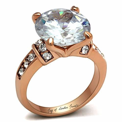The Joy A Perfect 18K Rose Gold 6CT Round Cut Russian Lab Diamond