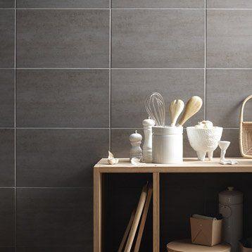 faïence mur gris clair, eiffel l.25 x l.40 cm | salle de bain ... - Faience Grise Salle De Bain