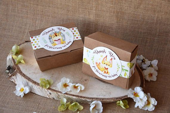 Baby Shower Favor Boxes, Personalized Large Party Favor ...