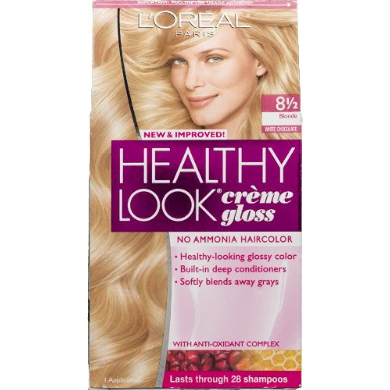 L Oreal Paris Healthy Look Creme Gloss No Ammonia Haircolor 8 1 2 Blonde White Chocolate Click Image For More Detai Hair Color 2 Hair Color Hair Color Asian