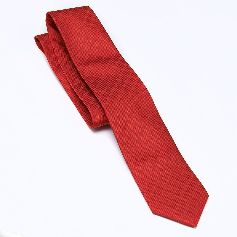 Chaps Checked Tie - Boys, Boy's, Red