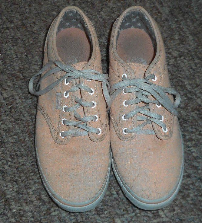 17e3cd2e9050ad Vans Canvas Sneakers Tennis Shoes Women s 7.5 Orange Pink Speckled  VANS   TennisShoes