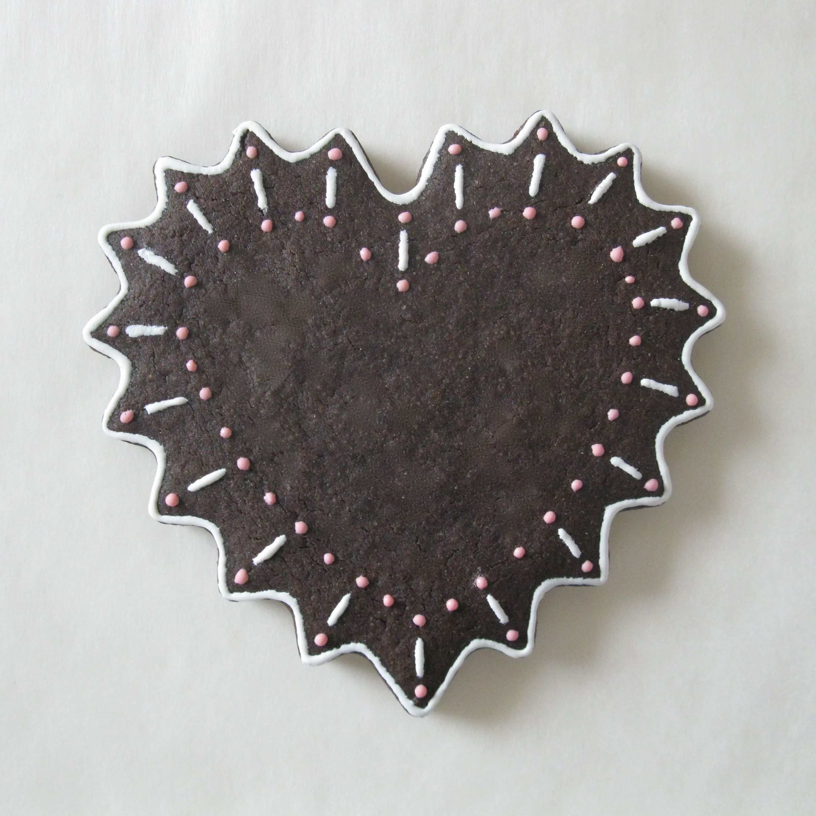 Chocolate Sugar Cookie   Lightly Decorated   J. Tamara