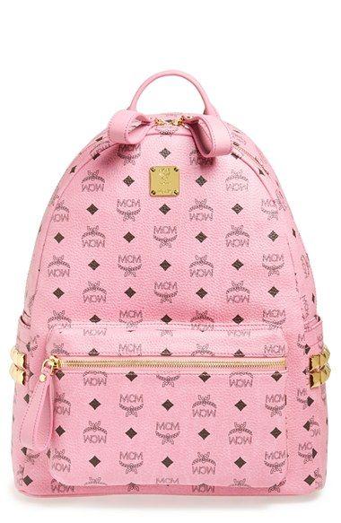 MCM 'Medium Stark - Visetos' Studded Backpack available at #Nordstrom