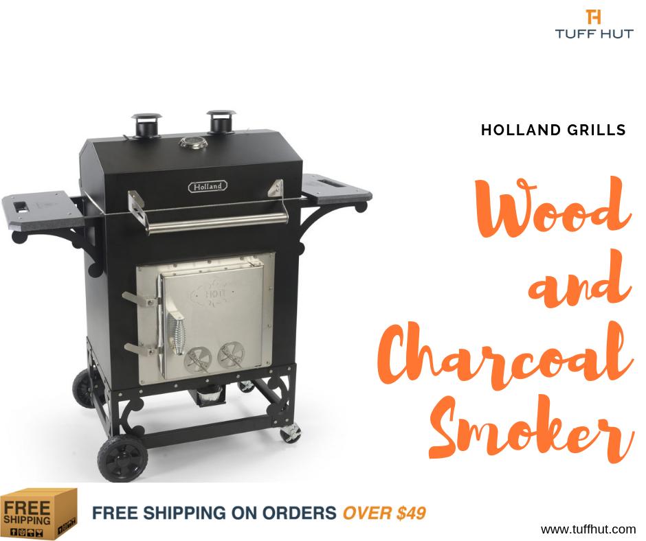 Holland Smokehouse Wood And Charcoal Smoker Tuffhut Charcoal Smoker Smokehouse Stainless Steel Fasteners