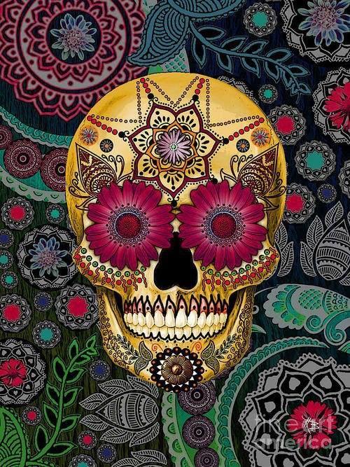 Calavera Colors Art Calavera No Chilla Pinterest Sugar