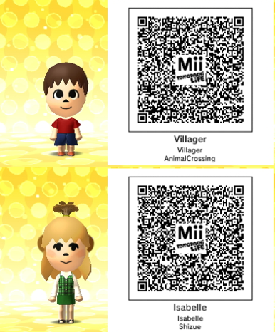 Something I Ve Been Meaning To Post For Awhile Now But Anyways I Thought I D Share My Villager And Isabelle Tomodachi Life Qr Codes Life Life Code Village