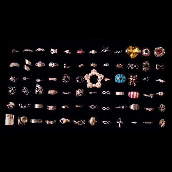 Rings, Rings, Rings! All kinds o' rings!  Will post more pics shortly...priced separately or bundled.  Please refer to the ring number with questions...posting more soon!  (Please note...the following are SOLD: #'s 1, 6, 16, 30, 34, 35) Sarah's Successories! Jewelry