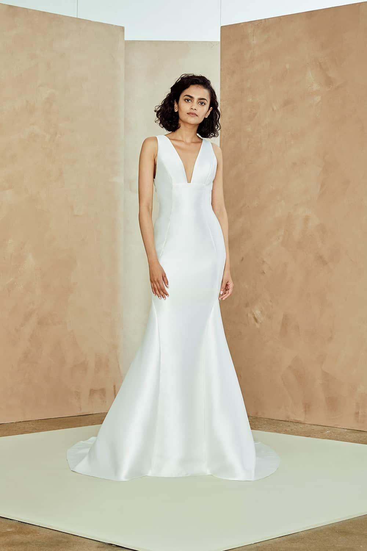 Lace v neck maxi dress april 2019 Nouvelle Amsale Wedding Dresses Spring   Wedding Dresses and