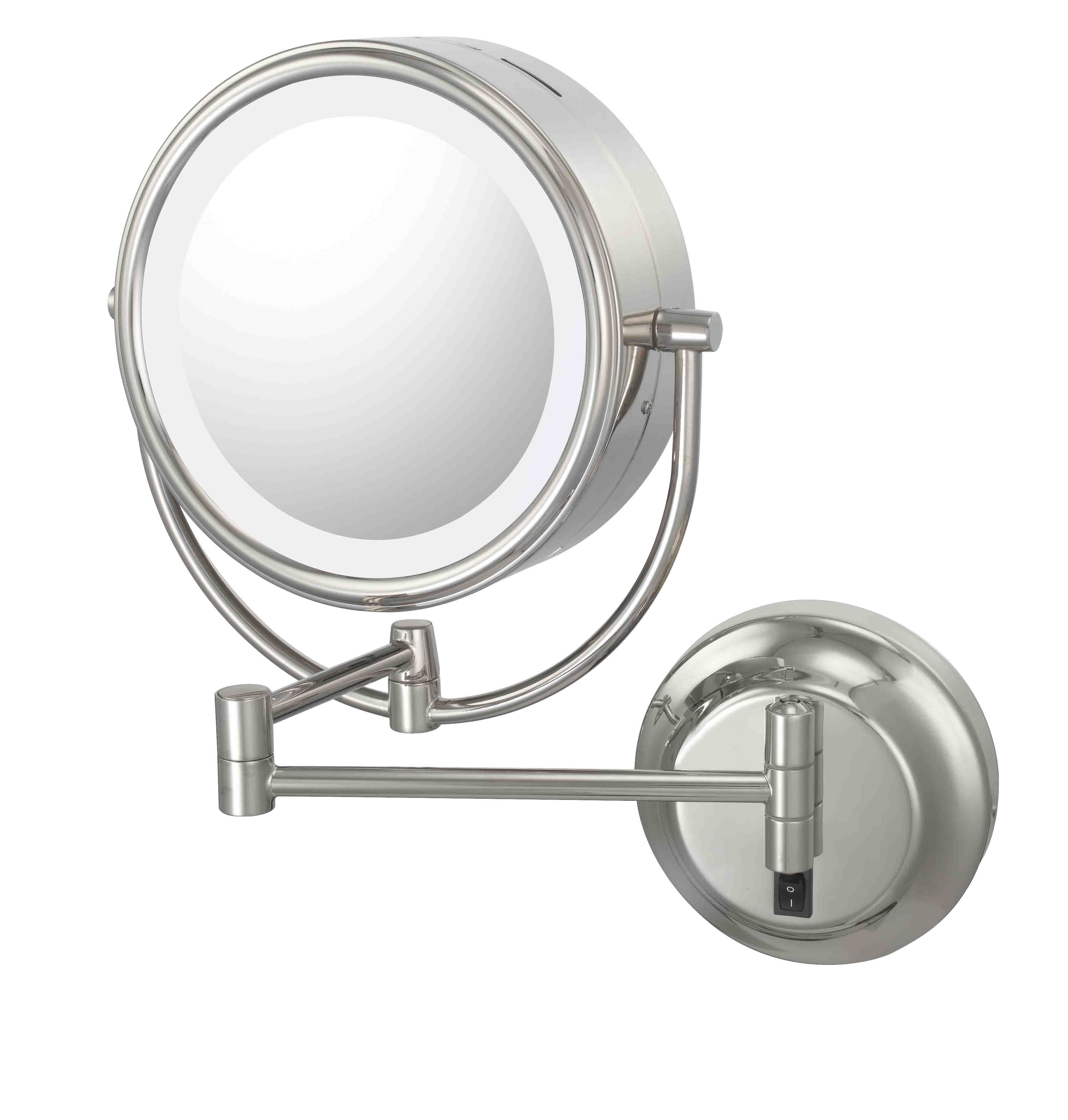 magnifying modo mirror illuminated smile with light bath lighting
