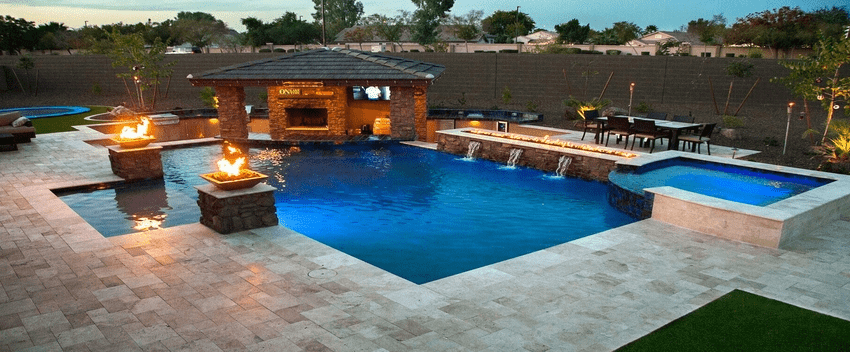5 Benefits Of Using Swimming Pool Pump Cover Noisy Pool Backyard Pool Landscaping Pools Backyard Inground Luxury Pools