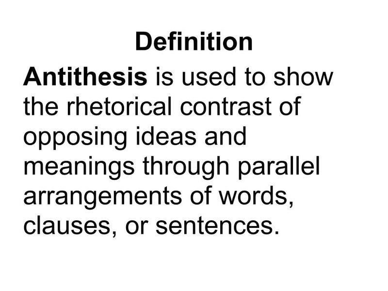 effect antithesis poem