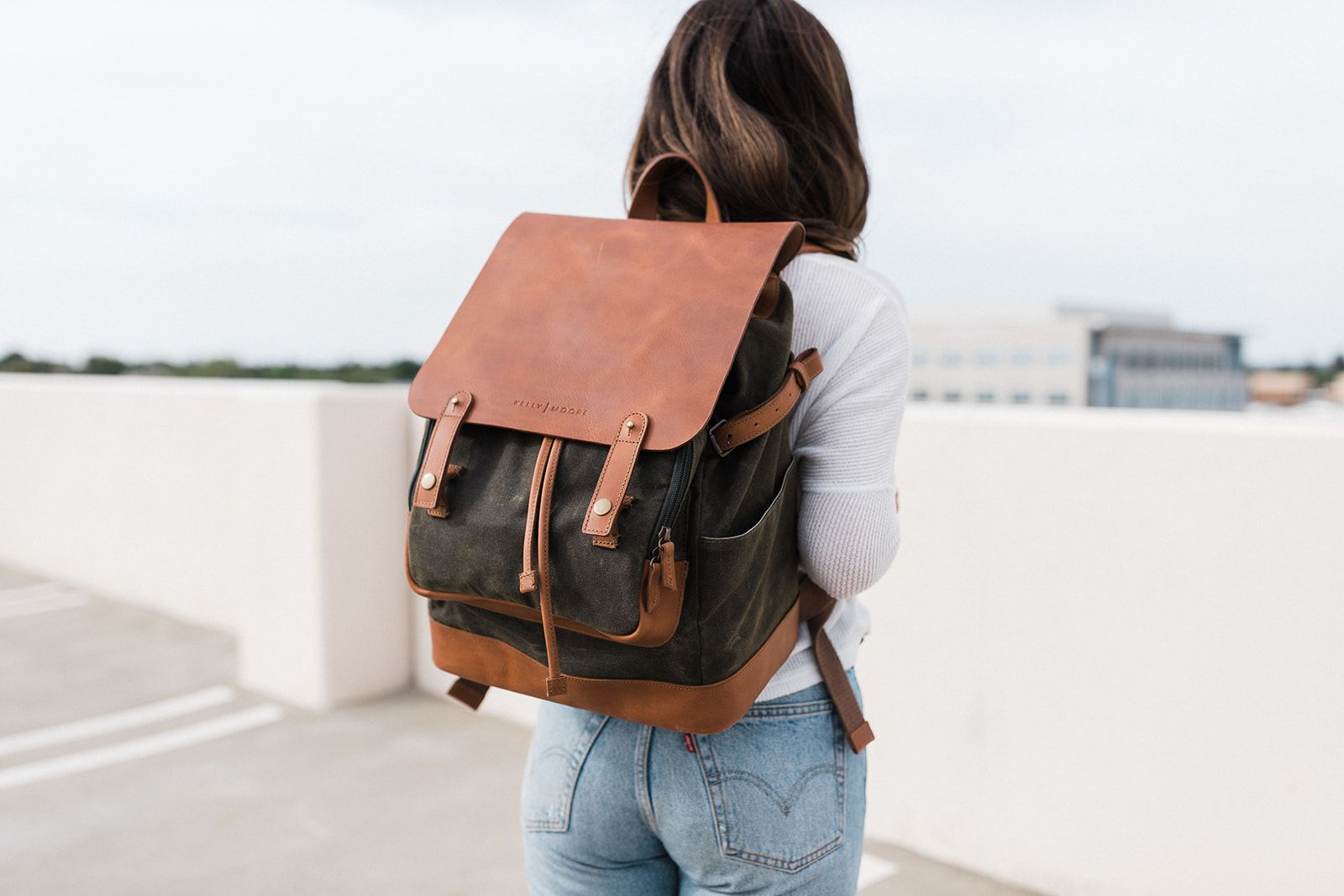 b53882fa7 The Pilot 2.0 - Canvas + Full Grain Leather Backpack | Men clothes | Kelly  moore bag, Bags, Backpacks