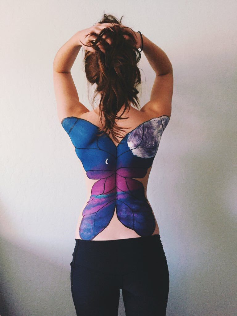 Butterfly Back Painting Body Art Painting Back Painting Body Painting