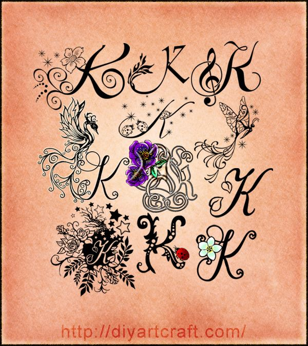 Tattoo Designs Letter K: Lettering #K #typography