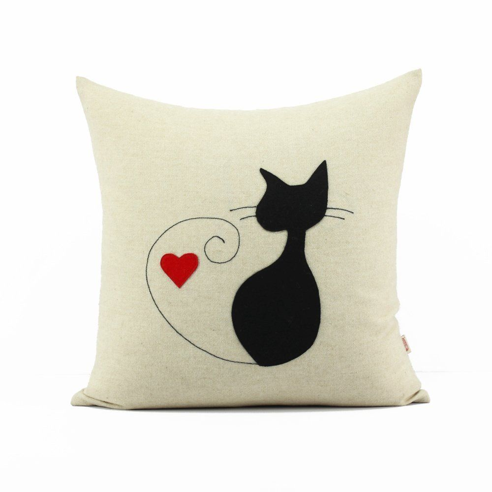 Valentines Catcat Pillowcaseblack Cat Pillowcasecat Lover Gift