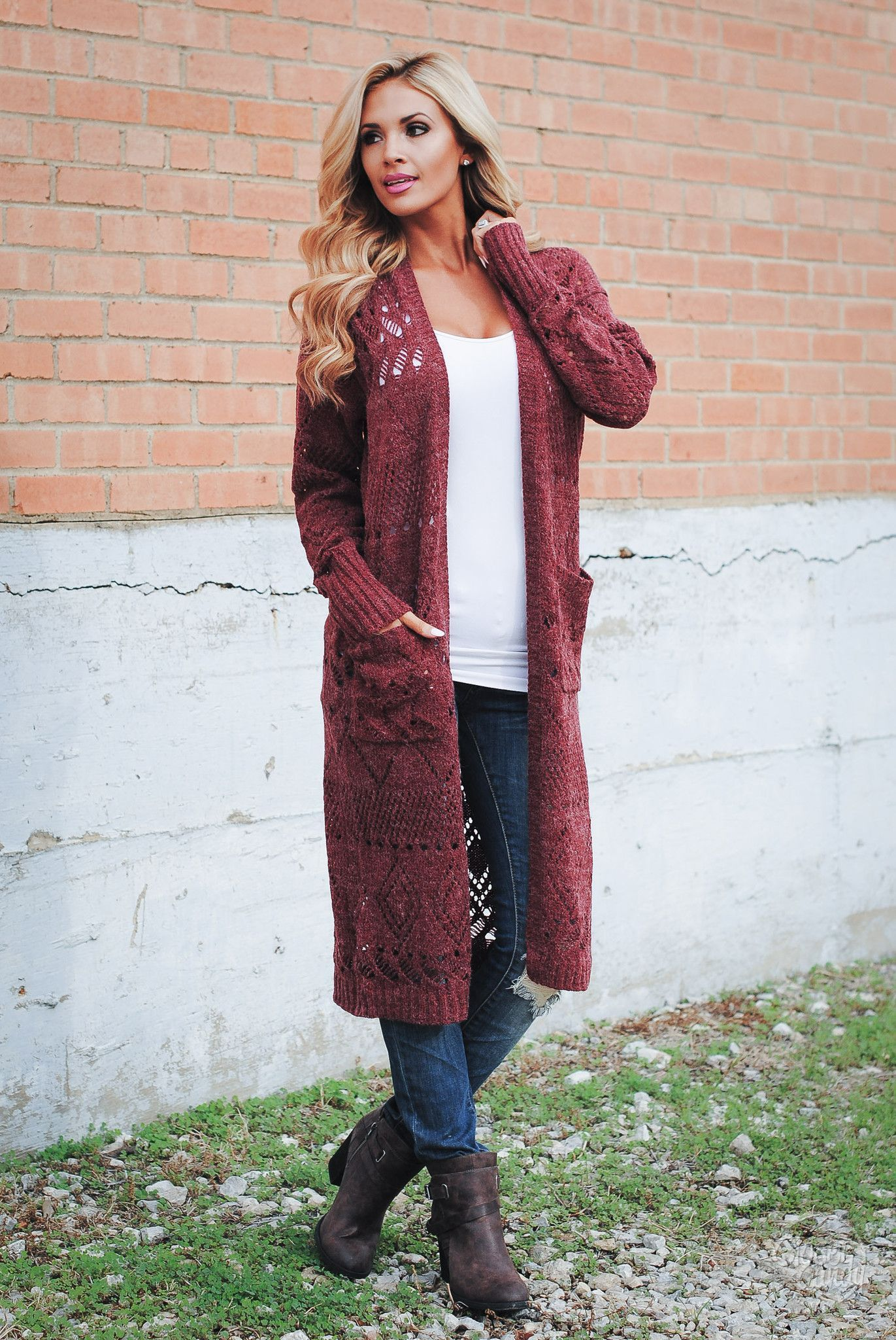 Best Is Yet To Come Duster Cardigan - Burgundy | Fashion ...