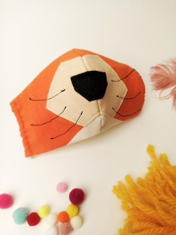 Photo of Mascherina, mascherina per bambini, mascherina muso animali, volpe, tigre