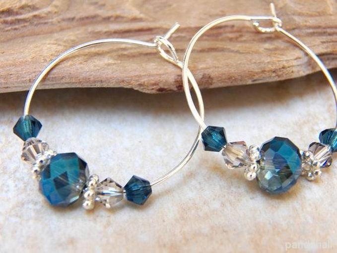 Glass earrings #hoopearrings #beadedearrings #pandahall