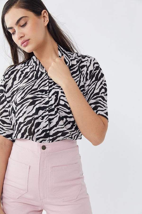 1eb795708b Motel Zebra Print Button-Down Shirt in 2019 | Senior styled sessions ...
