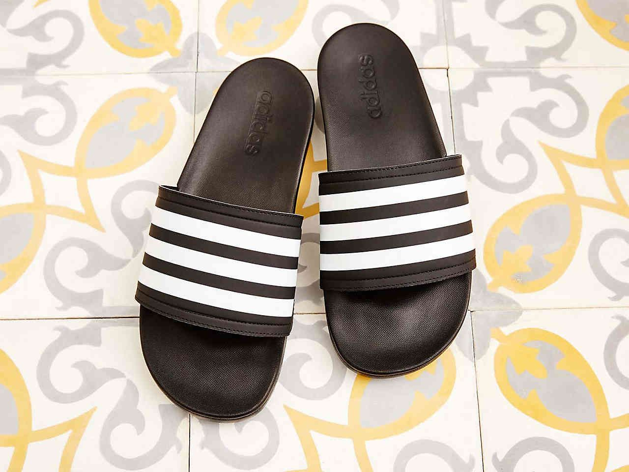 26a20a7a3f127 adidas Adilette Cloudfoam Ultra Stripes Slide Sandal Women s Shoes ...