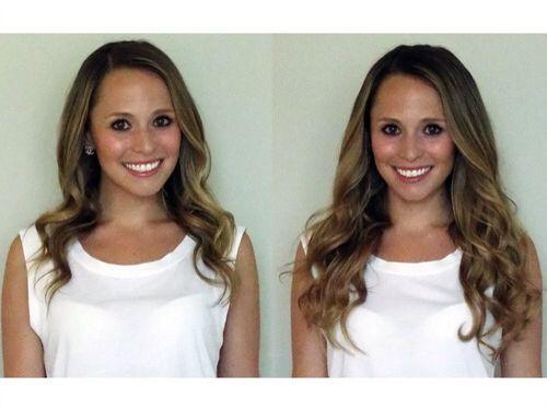 Before and After BELLAMI HAIR Piccolina 120g 18