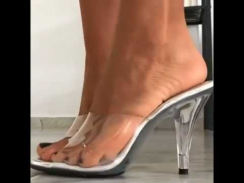 a6b5834cadd My Cousin in Clear Heels - YouTube