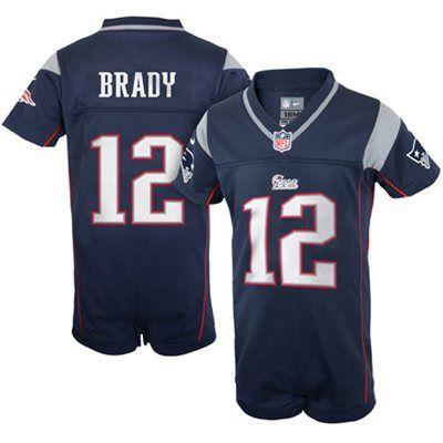 Nike Tom Brady New England Patriots Newborn Game Romper Jersey Navy Blue New England Patriots Gear New England Patriots Merchandise Jersey Patriots