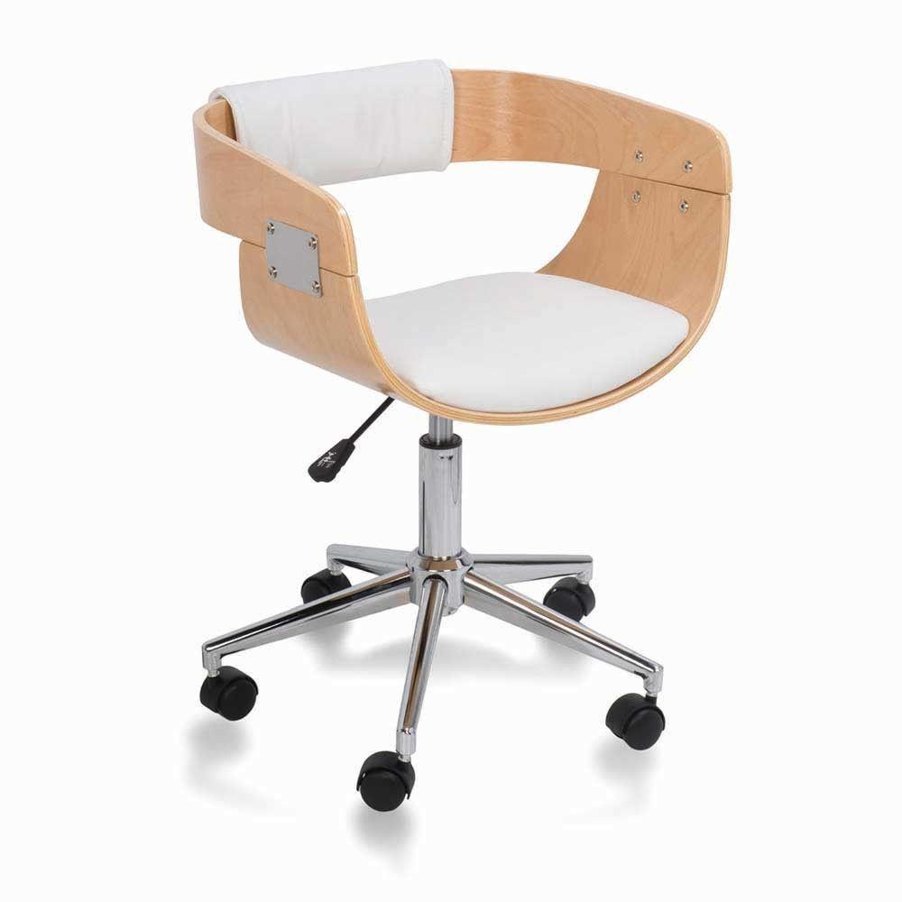 Silla escritorio madera haya 112 233 seats for Sillas de madera para escritorio