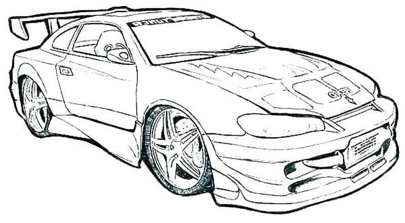Car Coloring Book Pages Mobil Balap Mobil Pembalap